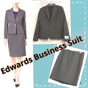 Edwards Professional Business Suit Size 8 NWT